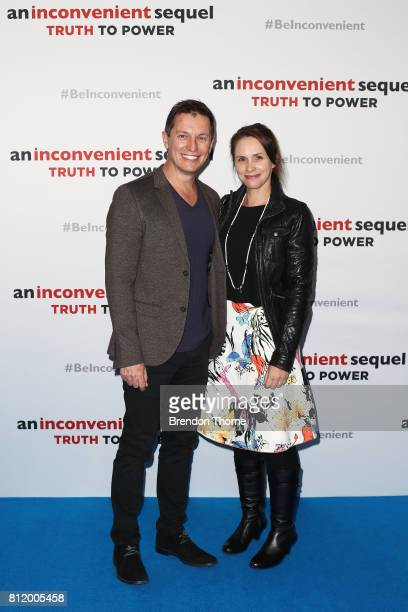 Rove McManus and Tasma Walton attend a special screening of 'An Inconvenient Sequel Truth to Power' at Event Cinemas Bondi Junction on July 10 2017...