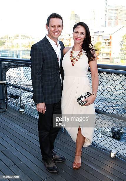 Rove McManus and Tasma Walton attend the 2016 ABC upfronts showcase in Pyrmont on November 24 2015 in Sydney Australia