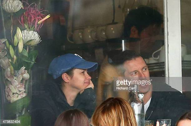 Rove McManus and wife Tasma Walton are seen in a cafe at Bronte Beach on May 17 2015 in Sydney Australia