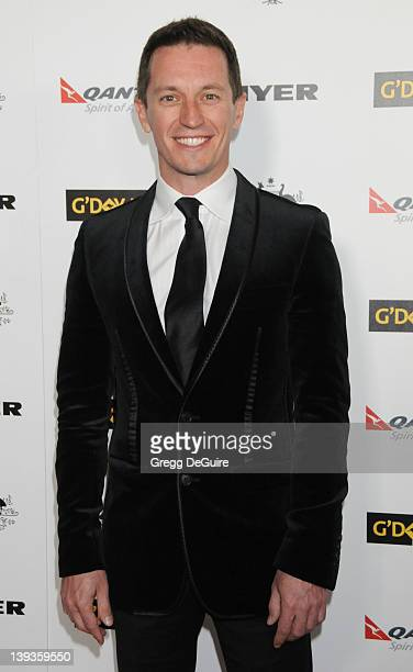 Rove McManus arrives at the 2011 G'Day USA Los Angeles Black Tie Gala honoring Barry Gibb Roy Emerson and Abbie Cornish held at the Hollywood...
