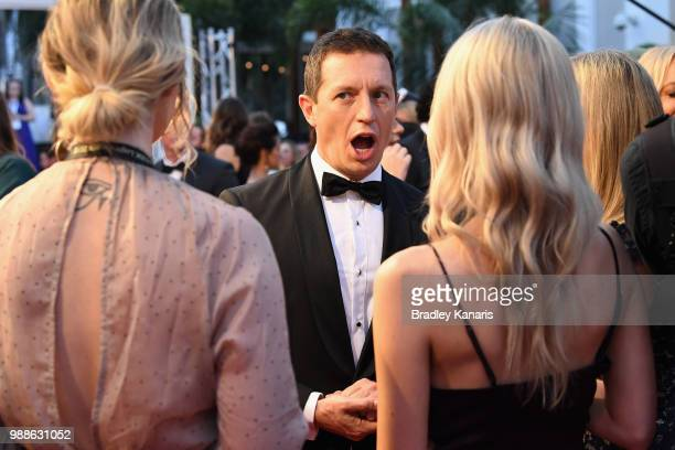 Rove McManus arrives at the 60th Annual Logie Awards at The Star Gold Coast on July 1 2018 in Gold Coast Australia