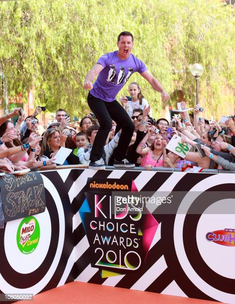 Rove McManus arrives for the Australian Nickelodeon Kids' Choice Awards 2010 at the Sydney Entertainment Centre on October 8 2010 in Sydney Australia