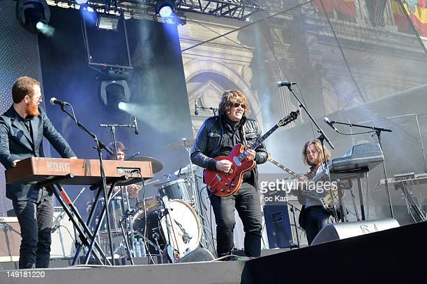 Rover and his band perform during the Fnac Live Festival 2012 at the Parvis De L'Hotel de Ville on July 21 Paris France