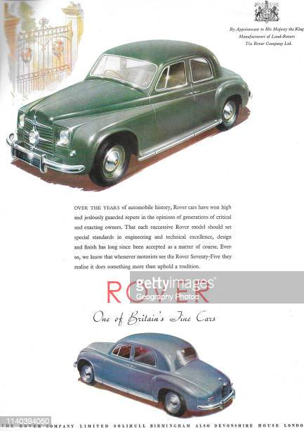 Rover car advert advertising in Country Life magazine UK 1951
