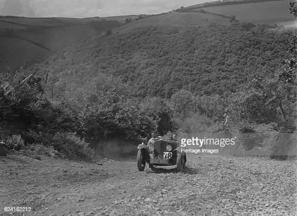 Rover Meteor Speed Twenty at the Mid Surrey AC Barnstaple Trial, Beggars Roost, Devon, 1934. Artist: Bill Brunell.Rover Meteor Speed Twenty 1934...