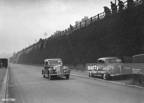 Rover saloon of A Corrie competing in the RAC Rally Madeira Drive Brighton 1939 Artist Bill Brunell Rover Saloon 2147 cc Vehicle Reg No FZ2010 Event...