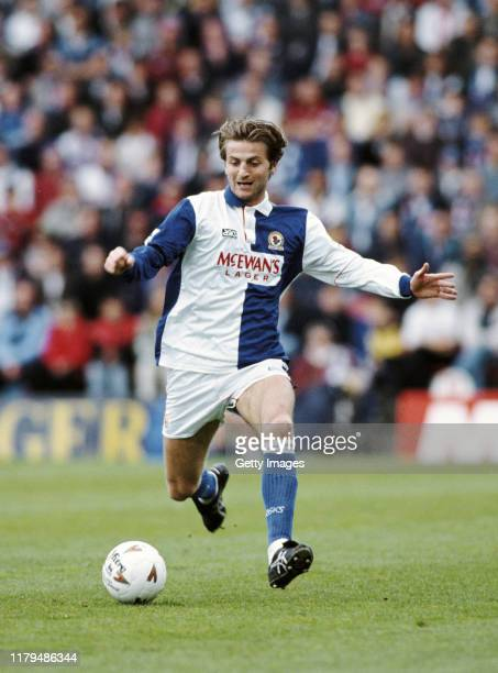 Rovers player Tim Sherwood in action during a Premiership match against Ipswich on May 7, 1994 in Blackburn, United Kingdom.