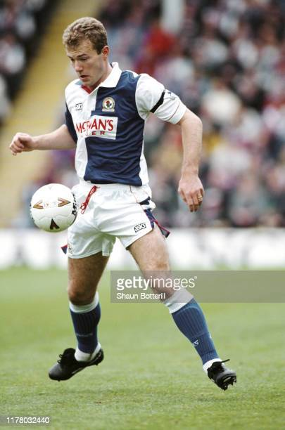 Rovers striker Alan Shearer in action during a Premiership match against Ipswich on May 7, 1994 in Blackburn, United Kingdom.