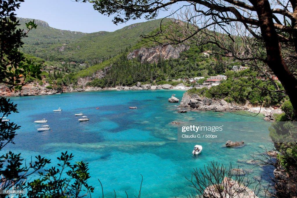 Rovinia A Hidden Paradise Beach In Corfu Stock Photo - Getty