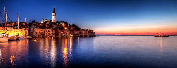Rovinj Blue Hour Sunset / Istria, Croatia Wall Art