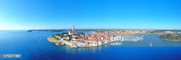 rovinj panorama, croatia - peninsula stock pictures, royalty-free photos & images
