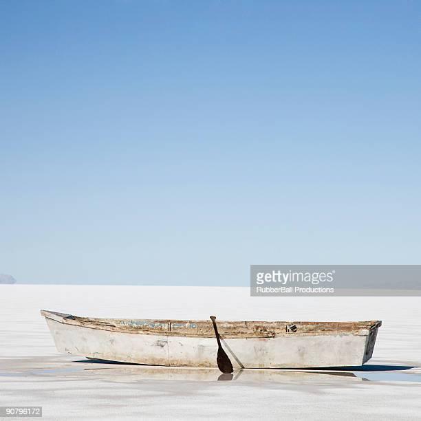 ボートの列の真ん中に凝縮