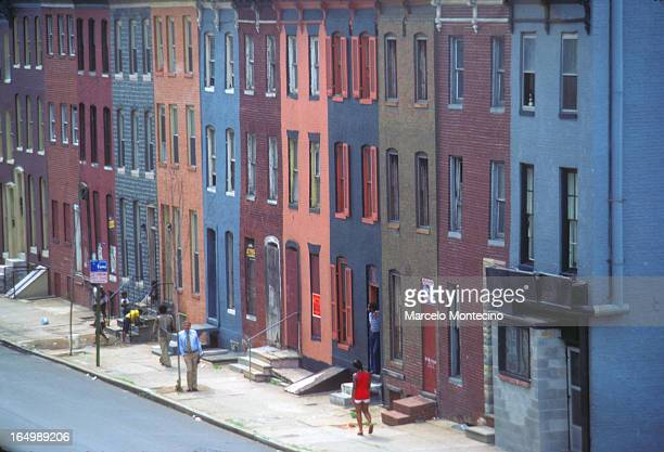 Row houses in downtown Baltimore, Summer, 1978