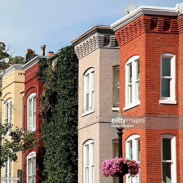 Row Houses in Georgetown - Washington DC, USA