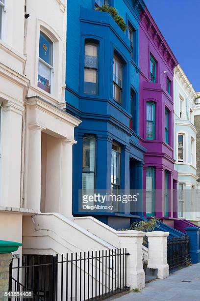 Row Houses in Notting Hill, London, England.