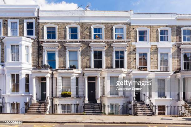 row houses in notting hill, london, england, uk - british culture stock pictures, royalty-free photos & images