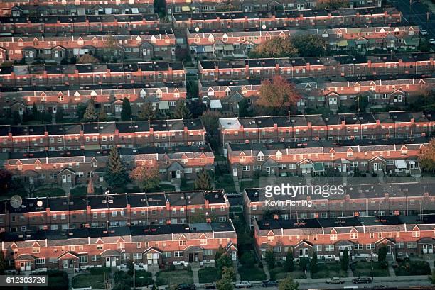Row Houses in Philadelphia Suburb