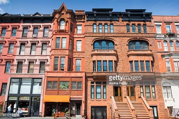Row houses of various styles in Harlem
