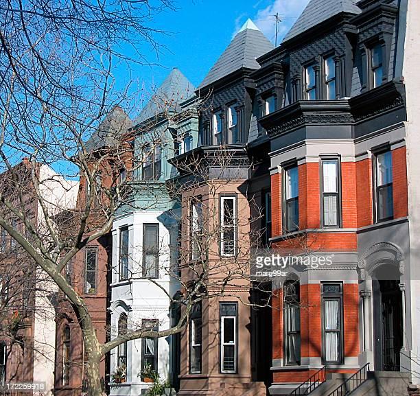 Row houses on a city street