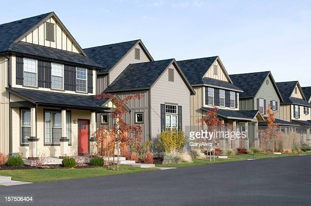 row houses - terraced_house stock pictures, royalty-free photos & images