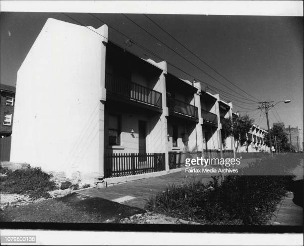 Row of 13 Terrace Houses in Jones at Ultimo between Quarry and Fig Sts September 23 1983