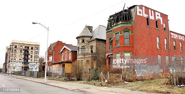 A row of abandonded buildings is shown March 23 2011 in Detroit Michigan The new census figures show that Detroit has lost 25 percent of its...