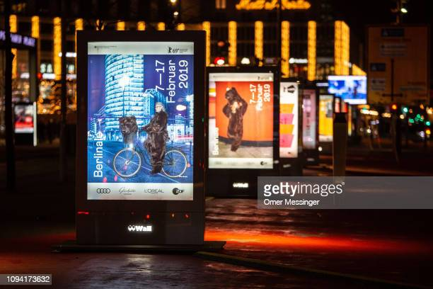 A row of ad posters for the 69th Berlinale International Film Festival near Potsdaner Platz on February 5 2019 in Berlin Germany The 69th Berlinale...