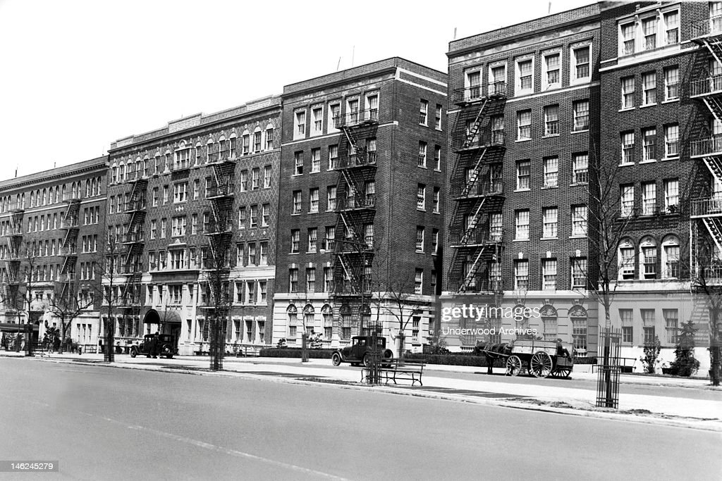 A row of apartments on Eastern Parkway in Brooklyn, New ...