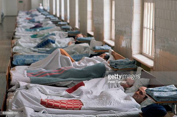 Row of Beds in Russian Mental Hospital