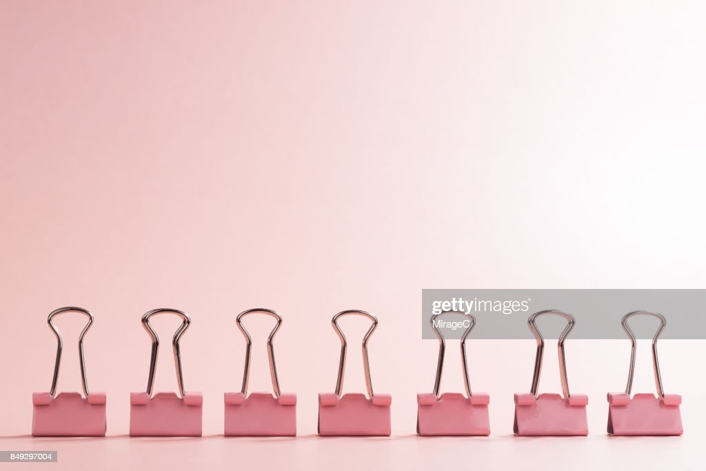 A Row of Binder Clip : Stock Photo