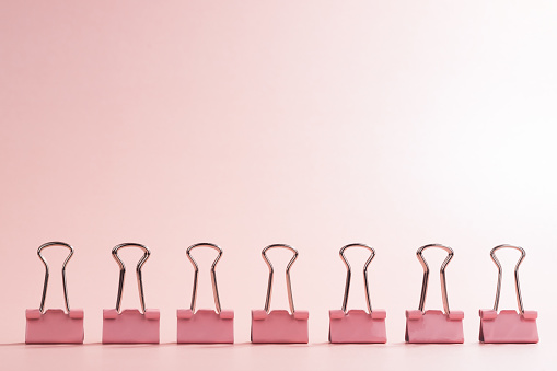 A Row of Binder Clip - gettyimageskorea