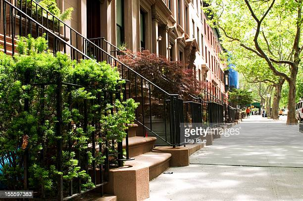 Row of Brownstones,NYC.