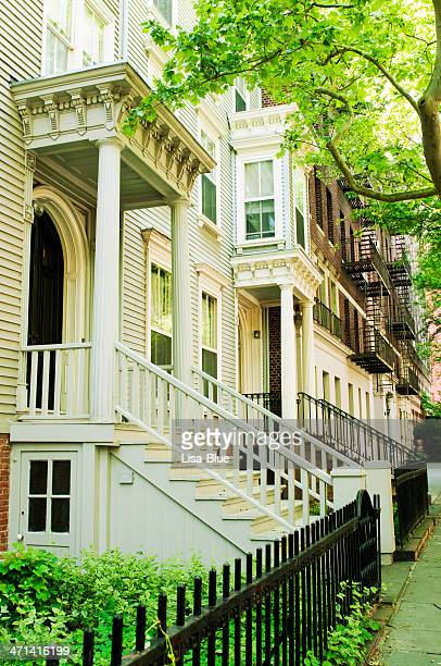 Row of Brownstones,NYC.