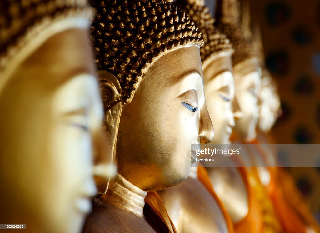 Row of Buddhas at Wat Arun, Bangkok, Thailand : Stock Photo
