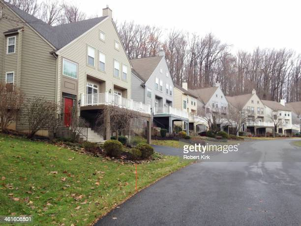 Row of carriage houses in a Philadelphia suburb