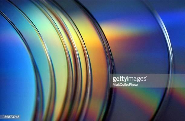 Reihe von CD-ROM-CDs