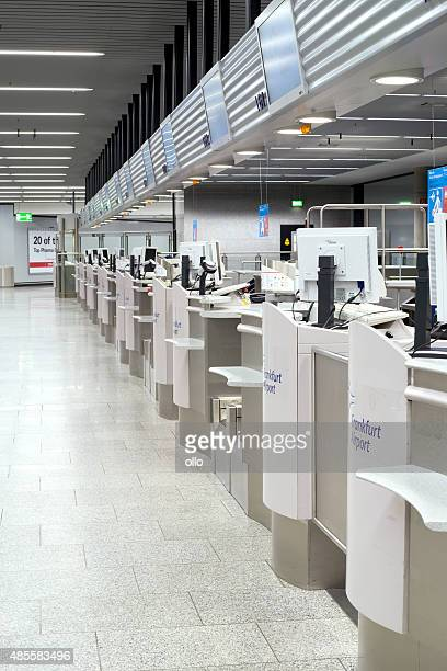 Row of check-in counters