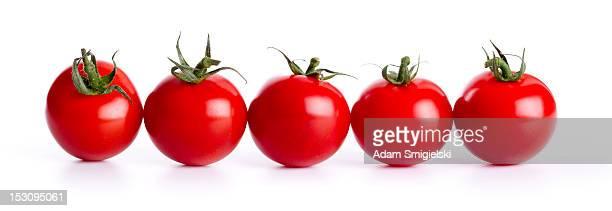Rangée de cherry tomatos