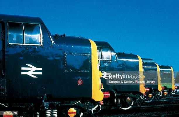 A row of Class 55 Deltic diesel locomotives built by English Electric in 19611962 The fleet of 22 Deltics did the work of 55 A4 steam locomotives and...
