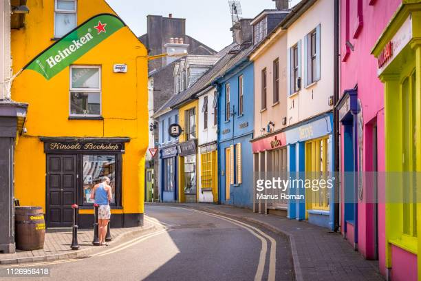 Row of colorful houses in Kinsale. Kinsale, County Cork, Ireland. May 29, 2018