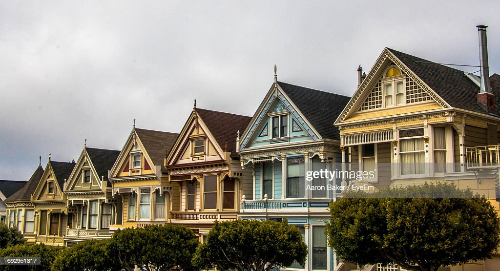 Row Of Colorful Houses : Stock Photo