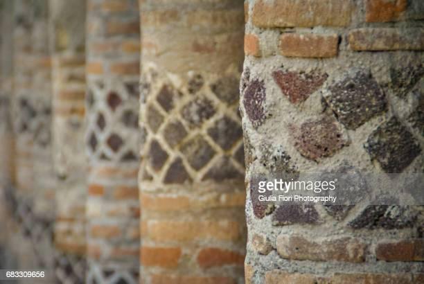 Row of columns in Pompeii