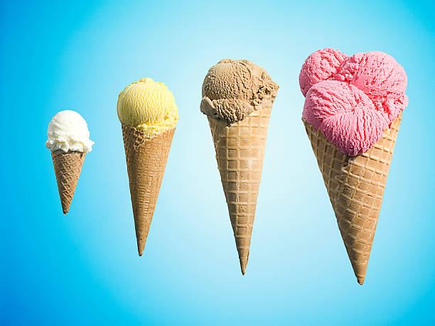 Row Of Different Flavor Ice Creams In Growth Wall Art