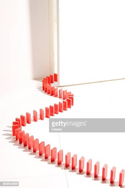 Row of domino