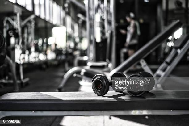 row of dumbbell for work out  weight training  at gym - exercise equipment stock pictures, royalty-free photos & images