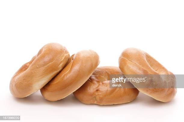 Rangée de quatre plain des bagels