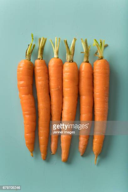 Row Of Fresh Orange Carrots.