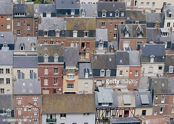 Row of houses, aerial view