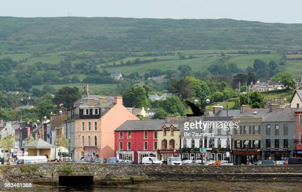 Row of houses along the quay in Bantry, West Cork, Ireland.