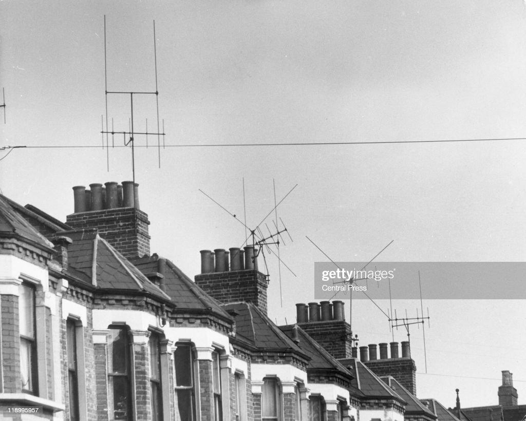 Television Aerials : News Photo